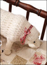 The Crochet a Lamb by Meg Grossman is a handspun crochet amigurumi pattern that creates an adorable lamb.