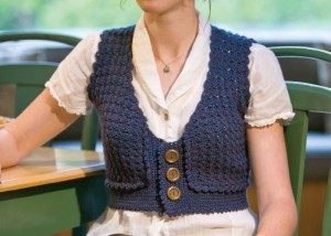 Make this charming crocheted vest found in our FREE eBook on 5 FREE crochet vest patterns.