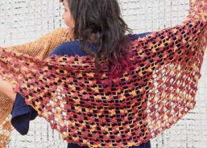 Make this crocheted shawl in this FREE eBook on crochet wedding patterns.