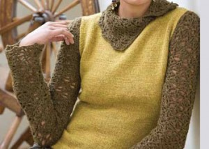 Learn how to crochet a sweater, such as Weekend Jacket, in this FREE eBook that contains crochet sweater patterns.