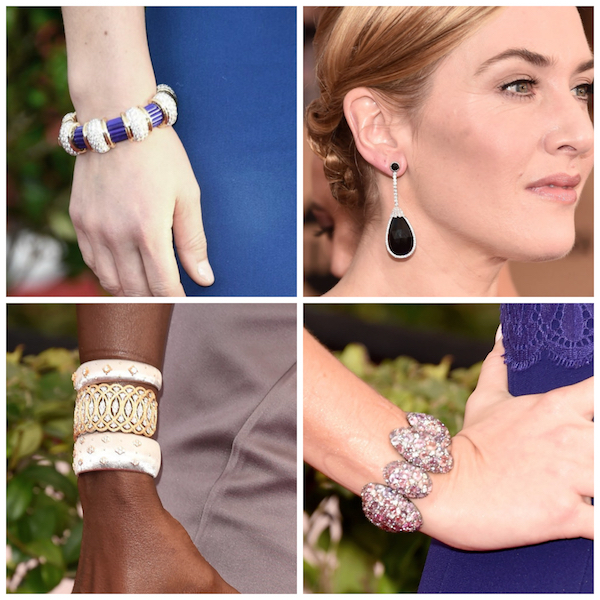 Beaded cuffs and jewelry designs on the red carpet