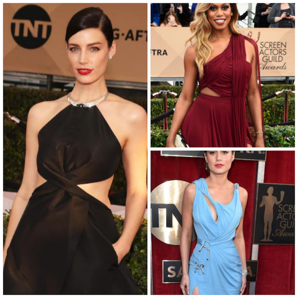 cut outs in gowns seen on the red carpet