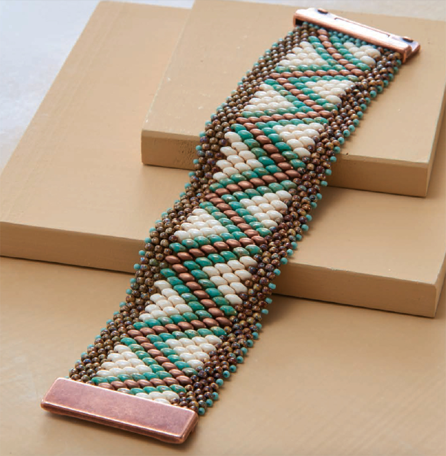 Dakot Canyon Bracelet, by Shae Wilhite, Road Trip Across American  bead weaving collection