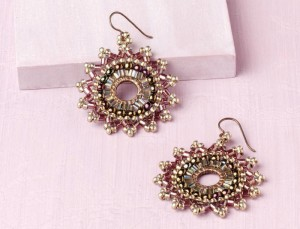Use brick and herringbone stitches to fashion a pair of earrings with desert-inspired colors and subtle Southwestern flair in our FREE eBook on seed bead earrings.