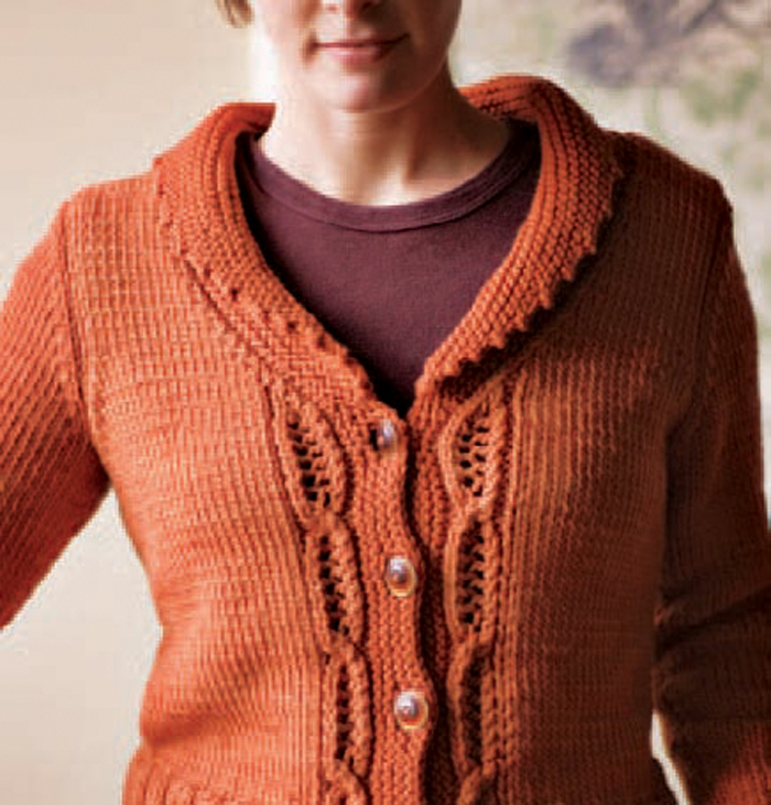 Learn how to knit this detailed cardigan in this free ebook that includes 7 free cardigan knitting patterns.