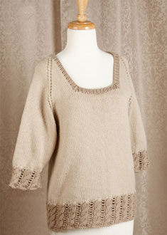 Knitting Gallery - Dirndl Raglan Bertha