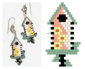Learn how to make beaded earrings with the flat peyote stitch in this FREE peyote beading stitch eBook.