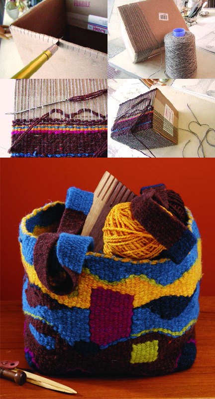 Learn how to make a DIY cardboard loom in this free diy tapestry weaving guide.