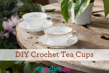 DIY crochet teacup tutorial