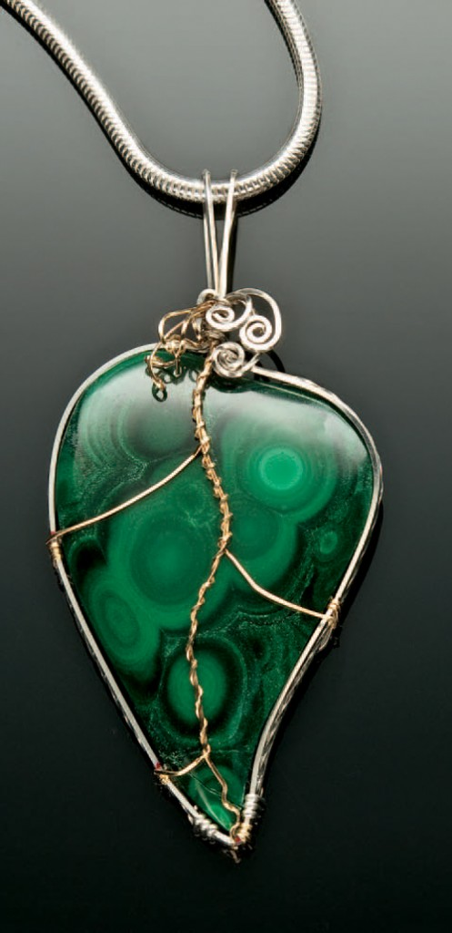 Learn how to make this DIY wire-wrapped pendant in this free eBook on gemstone jewelry making.