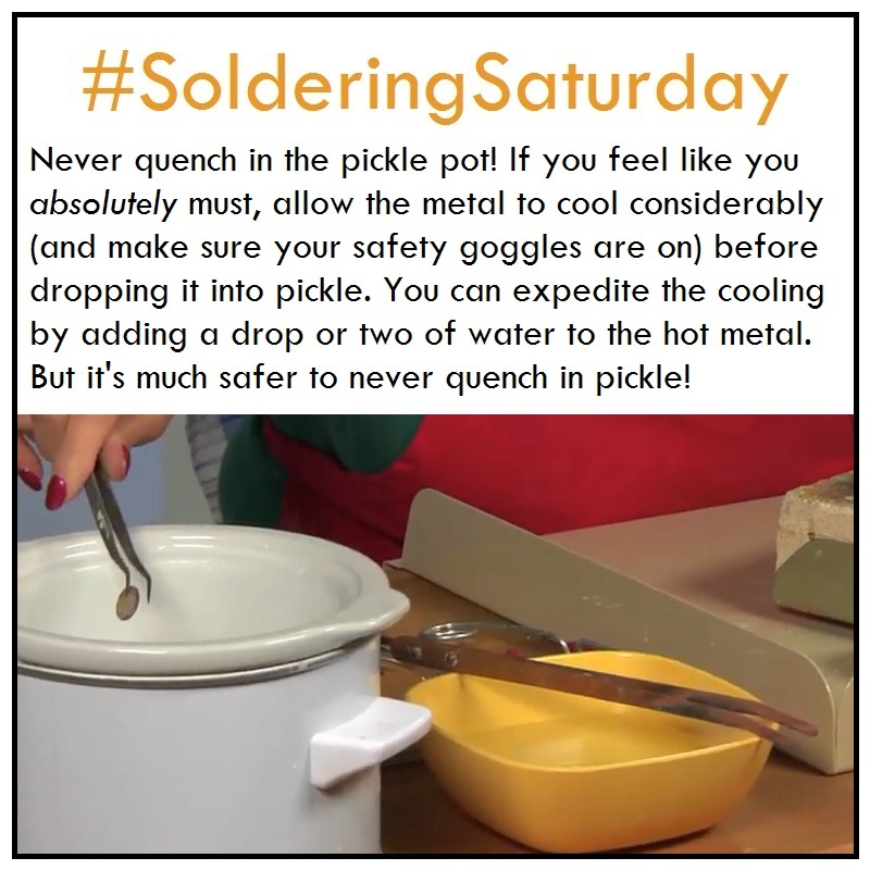 SolderingSaturday - don't quench in pickle!