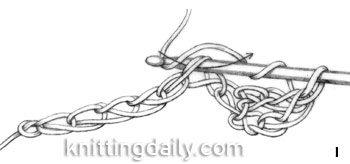How to Double Crochet fig 1