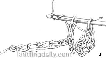 How to Double Crochet fig 3