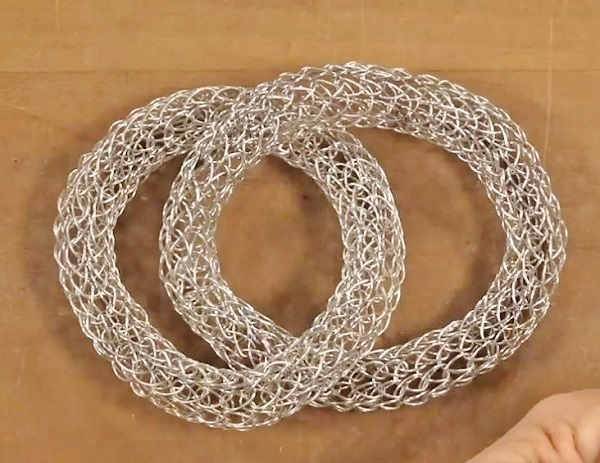 wire jewelry making Viking knit to make filled chain bracelets
