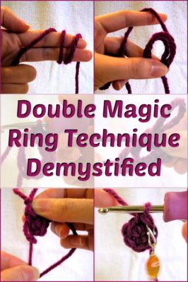 How To Crochet The Magic Ring (Adjustable Loop For Amigurumi ... | 400x266