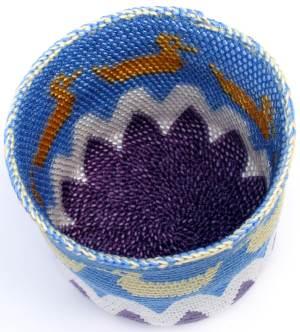 Beaded Tapestry Crochet duck basket