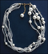 Lindsay Burke's From the East necklace uses an extender chain.