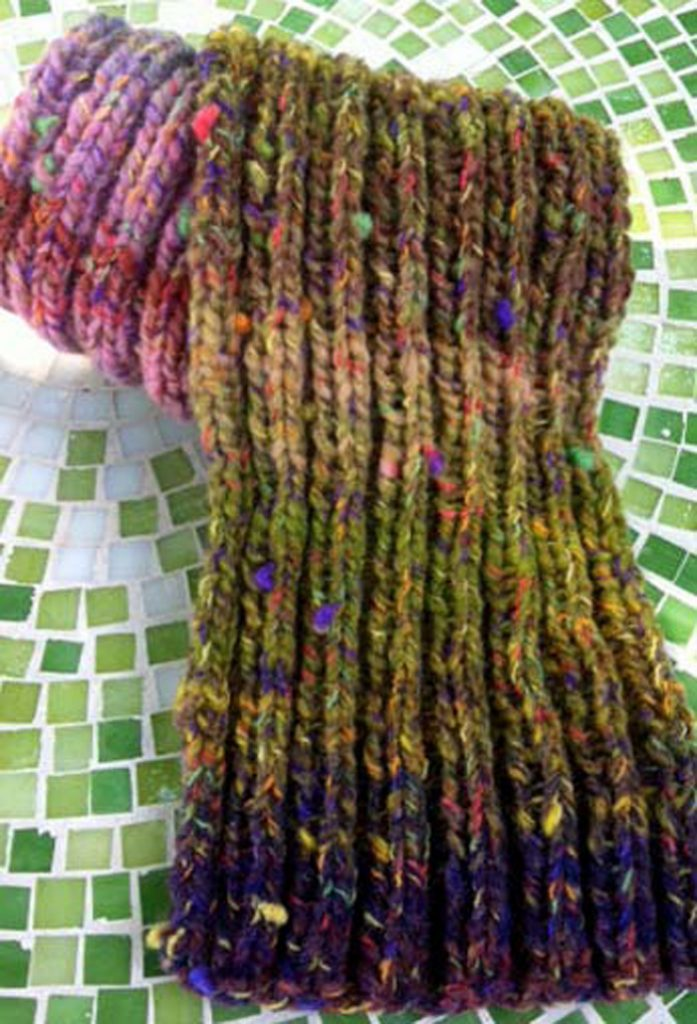 Knitting Patterns Ribbed Scarf : Knitting for Beginners: Free Guide on How to Knit Interweave