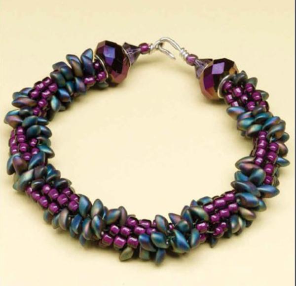 Edgy Kumihimo bracelet, Sue Charette-Hood, Beadwork Oct/Nov 2012