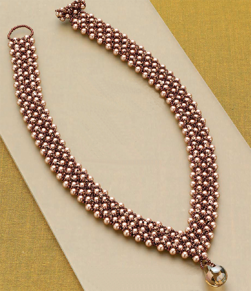 Bead weaving patterns for back to school, Empress Catherine's Collar, by Leslee Frumin