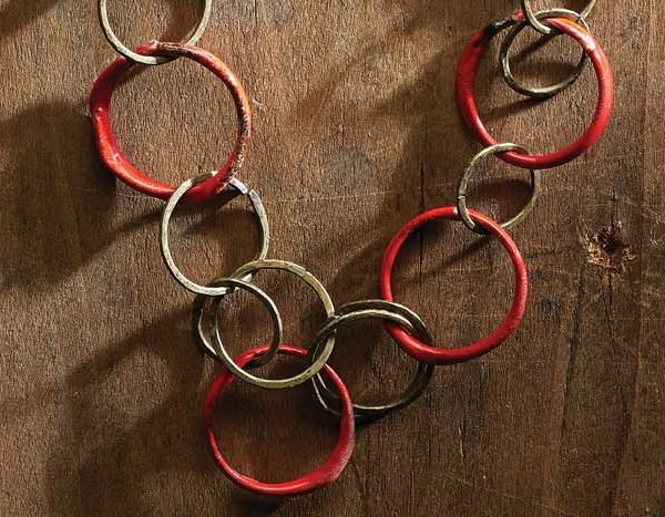 enameled steel wire rings in Ring of Fire by Barbara Lewis