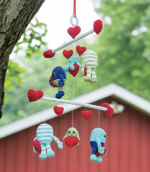 Monster Love Baby Mobile Crochet Pattern