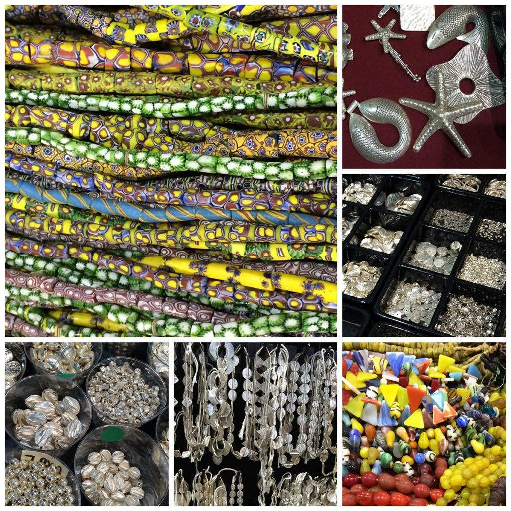 African trade beads, Hill Tribes silver beads, pendants, charms; Bali silver beads, findings and charms