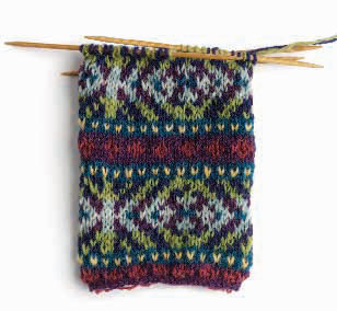 Fair Isle Knitting swatch example.