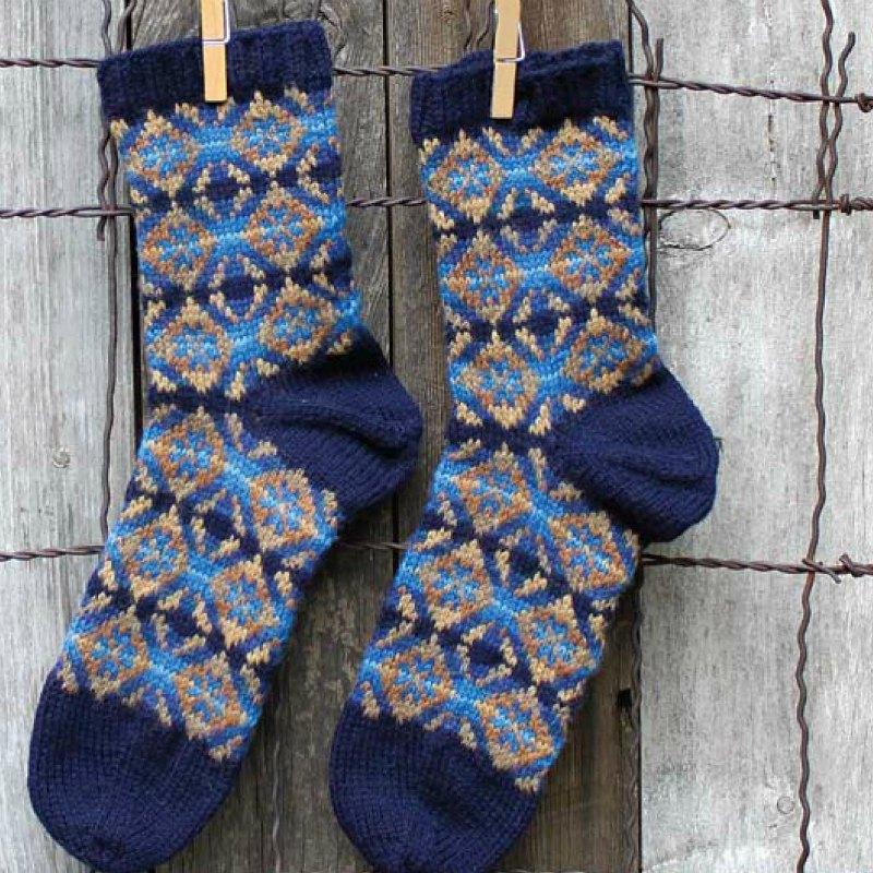 Medallion socks