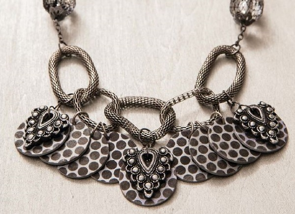 how to make faux metal polymer clay jewelry