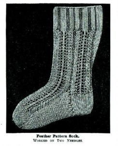 This Feather Pattern Sock was designed in the Victorian era but is as timeless as ever today. Master classic knitting and needlework techniques with this handy eBook!