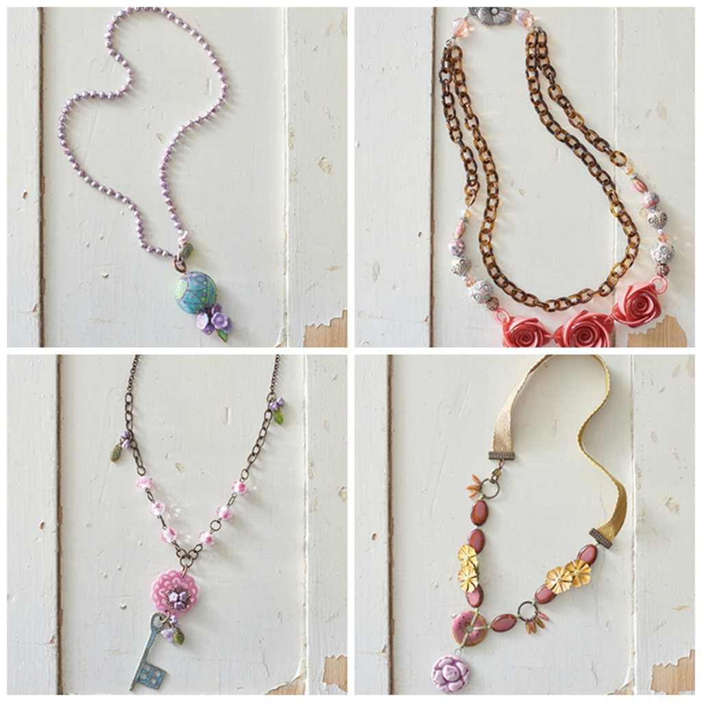 Jewelry Stringing Secret Gardent Jewelry offers soft colors inspiring summer, flirty, feminine jewelry designs
