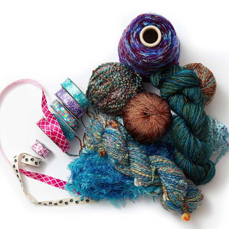 fabulous fibers from Kristal Wicks fiber beads eCourse