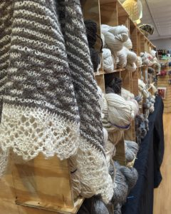 Visitors to fibre space were able to shop for rare breed yarns and fiber in the Ross Farm pop-up shop. Photo: Danielle