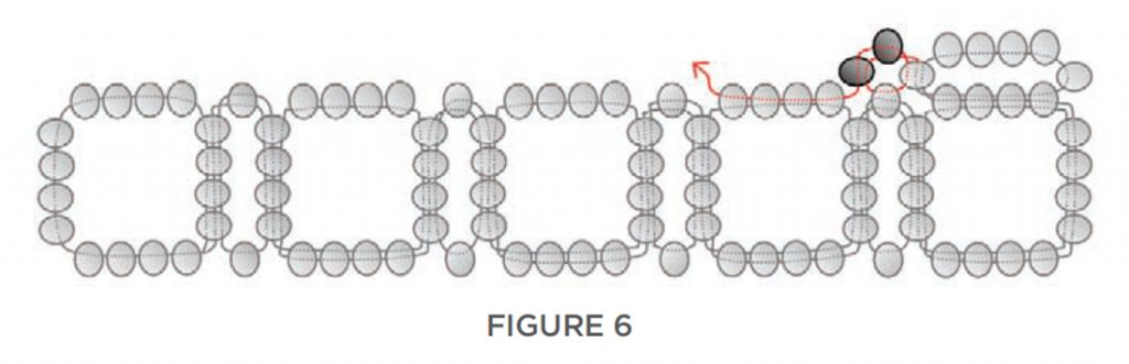 right-angle weave seed bead bracelet tutorial, seed bead fusion by Rachel Nelson Smith