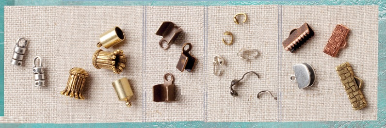 findings for finishing leather jewelry, cord and ribbon jewelry