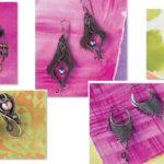 Colorful Chaos Dirty Pour Torch-Fired Enamel Bracelet by Karen Meador