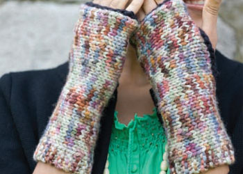 Short Row Patterns: Motley Mitts by Lisa Shroyer