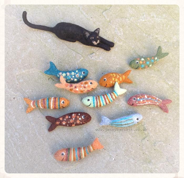 Jenny Barnett will lead a Woolschool showing how to make a needle felt fish brooch. Photo: Jenny Barnett.
