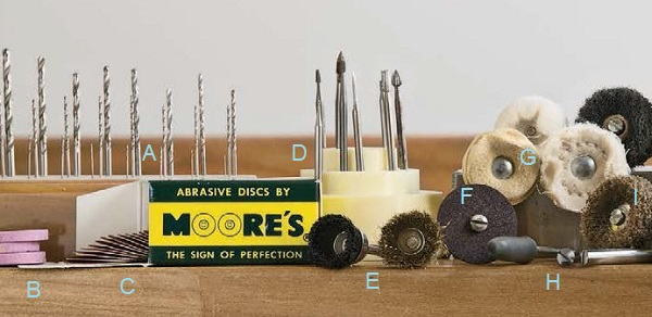 flex shaft accessories for metalsmithing