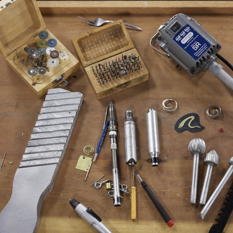 Tools, techniques, and tips abound for the flex shaft in Andy Cooperman's workshop.