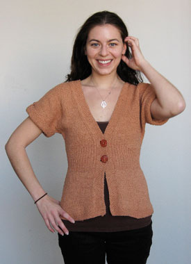 Knitting Gallery - Flutter Sleeve Cardigan Annie