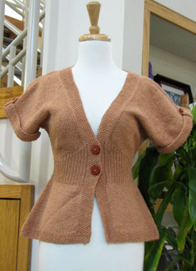 Knitting Gallery - Flutter Sleeve Cardigan Bertha