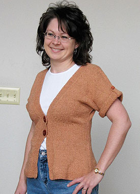 Knitting Gallery - Flutter Sleeve Cardigan Debbie