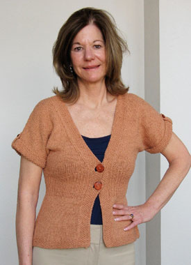 Knitting Gallery - Flutter Sleeve Cardigan Kerry