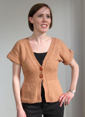 Knitting Gallery - Flutter Sleeve Cardigan Laura