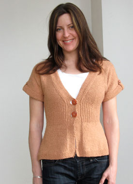 Knitting Gallery - Flutter Sleeve Cardigan Sarah