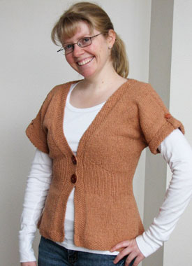 Knitting Gallery - Flutter Sleeve Cardigan Toni
