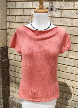 Knitting Gallery - Folded Cowl Tee Bertha
