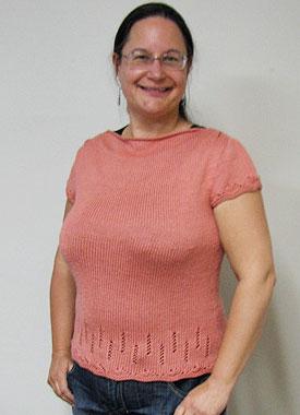 Knitting Gallery - Folded Cowl Tee Sandi